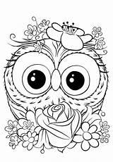 Coloring Cuties Owl Cutie Bojanke Animal Printables Preschool Dibujos Colorear Unicorn Disney Bontontv Printable Coloriage Paisajes Blank Sheets Slatkice Adult sketch template