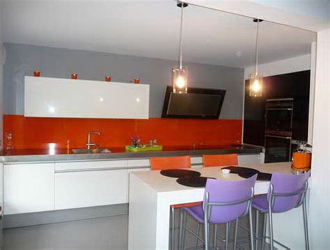 cuisine orange et grise orange kitchen decorating ideas for a vital atmosphere