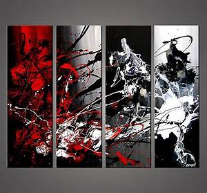 Original Abstract Art Paintings By Osnat Black White And ...