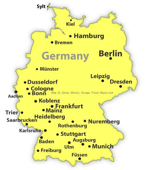 map  germany showing cities europe  hints tips