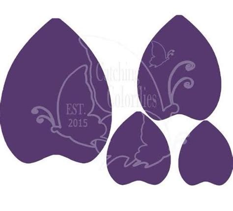 extra large bella style paper flower templates receive