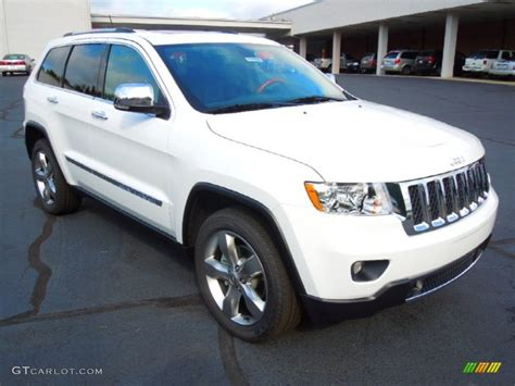 jeep cherokee white 2013 bright white jeep grand cherokee overland 4x4