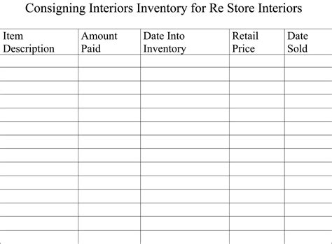 inventory sheets   booth antique booth ideas