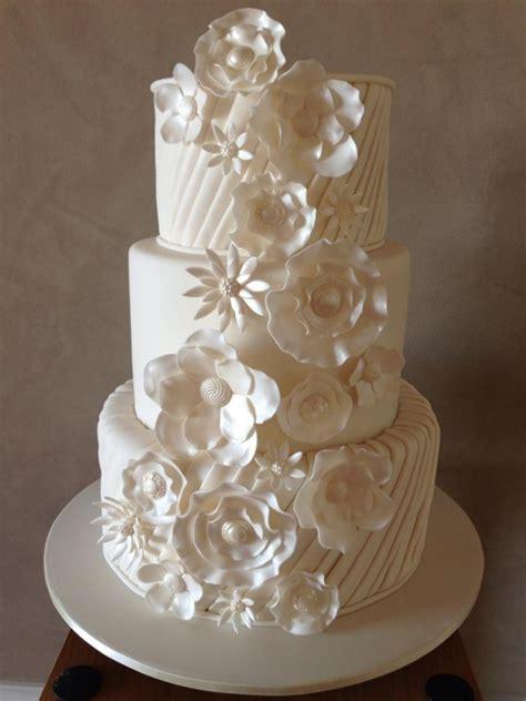 pleated fantasy wedding cake cakecentralcom