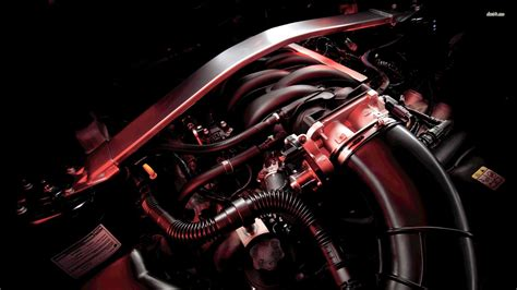 Ford Mustang Engine Wallpaper