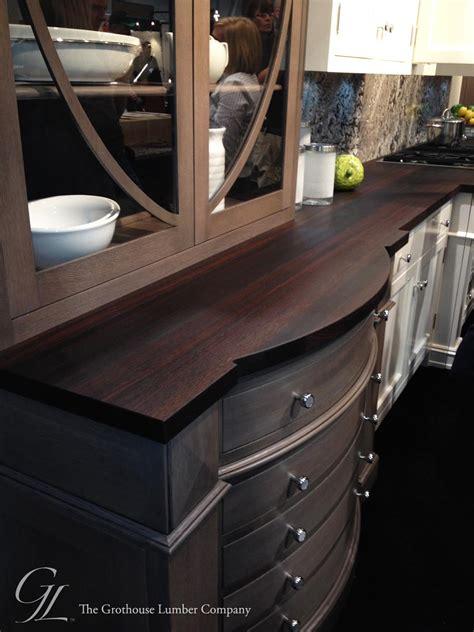 custom wenge dark wood countertop displayed  kbis