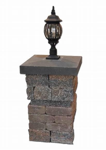 Column Caps Brick Retaining Solid Stone Cap