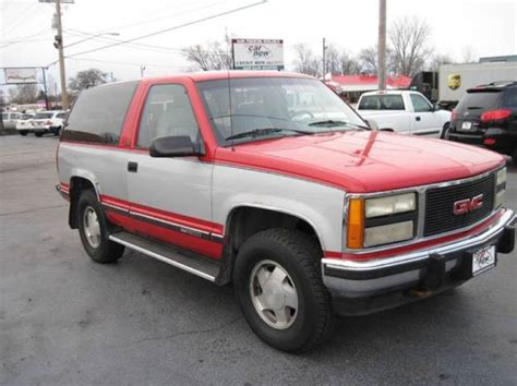 automotive service manuals 1992 gmc yukon seat position control 1992 gmc yukon sle 2dr 4wd suv 248719 miles red suv 5 7l v8 automatic 4 speed for sale gmc