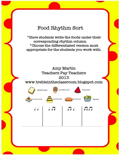 treble in the classroom food rhythm activities 606 | Screen shot 2013 09 22 at 9.29.16 PM