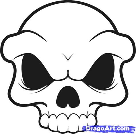 draw  skull  kids step  step people