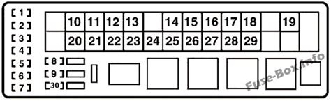 06 I 250 Fuse Box Diagram by Fuse Box Diagram Gt Lexus Is250 Is350 Xe20 2006 2013
