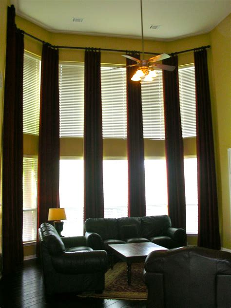 Curtains Kitchen Window Ideas - curtains for tall windows installed by decorating on a shoe string decorating on a shoe string