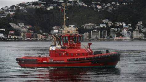 Tugboat Wellington by Wellington Tugboats Provide Care For Container Ships