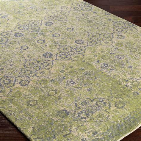 distressed ornamental floret rug shades  light