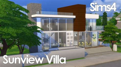 Sunview Villa (modern)  The Sims 4 Speed Build Youtube