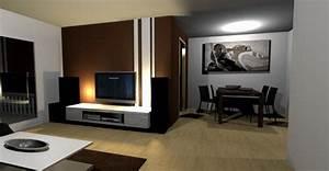 Wohnzimmer Wnde Gestalten Farbe