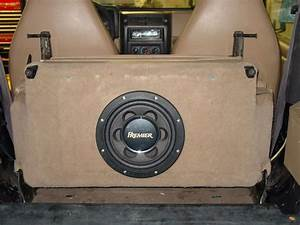 In Seat Shallow Subwoofer Box For 03 06 Jeep Wrangler Bass