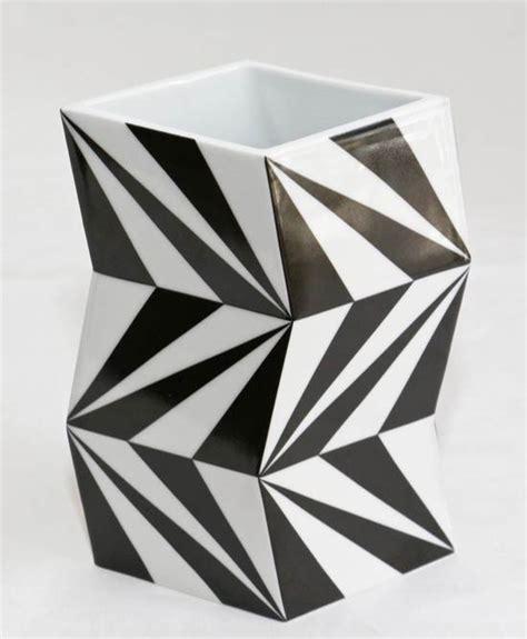 Vase Schwarz Weiß by Design Porzellan Vase Blumenvase Schwarz Weiss