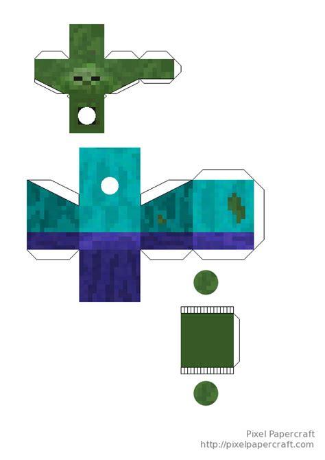майнкрафт поделка из бумаги с двигающимися частями не цветные один