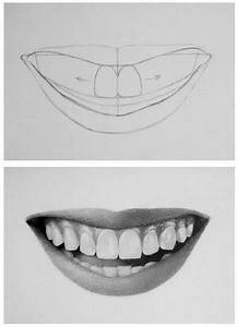 How to draw teeth and lips - 7 easy steps | Teeth ...