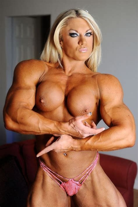 Blonde Sexy Muscle Barbie With Massive Ripped Muscular Body Pichunter