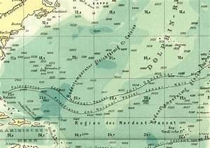 Atlantic Ocean Depth Ratios Historical Colour Map