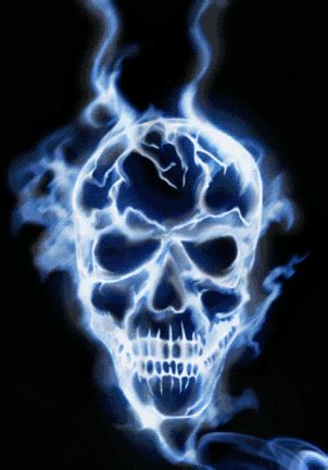 Skeleton Animated Wallpaper - cool animated burning skull gifs at best animations