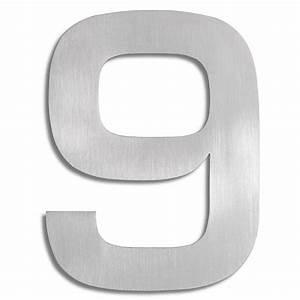 Numéro Maison Design : signo chiffre 9 blomus numro de maison inox ~ Premium-room.com Idées de Décoration