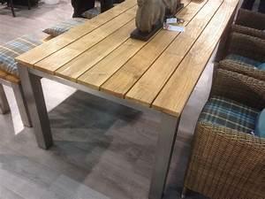Gartentisch Edelstahl Holz : gartentisch holz edelstahl ausziehbar ~ Frokenaadalensverden.com Haus und Dekorationen