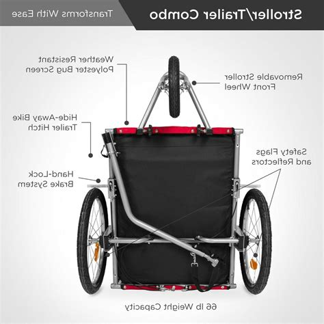 Best Choice Products 2-in-1 Pet Stroller and Bike