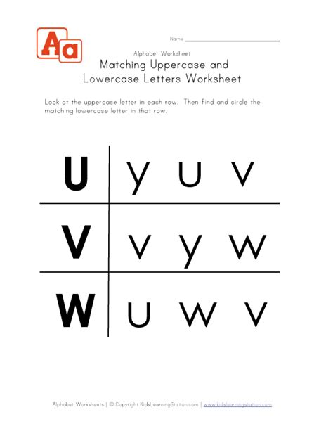 16 Best Images Of Matching Uppercase And Lowercase Worksheets  Uppercase Lowercase Letters