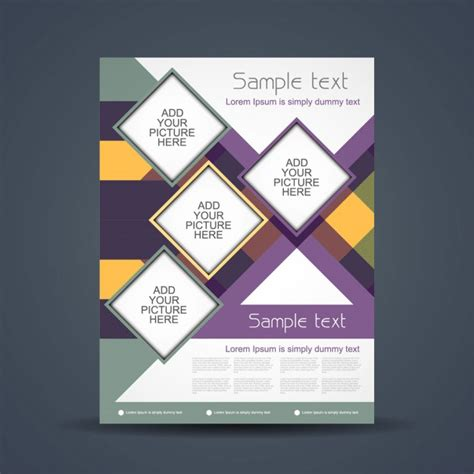 Colorful Brochure Templates by Business Colorful Brochure Design Vector Free