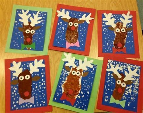 christmas art for kindergarten kindergarten reindeer trace foot for the sponge painting winter with mr giannetto