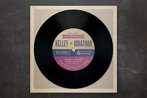 vinyl record invitation mazelmomentscom bat bar With 7 vinyl wedding invitations