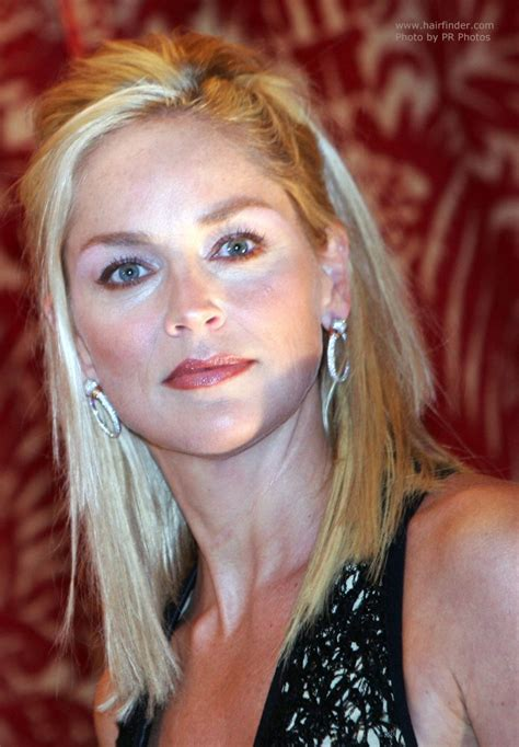 sharon stone  long hair     younger