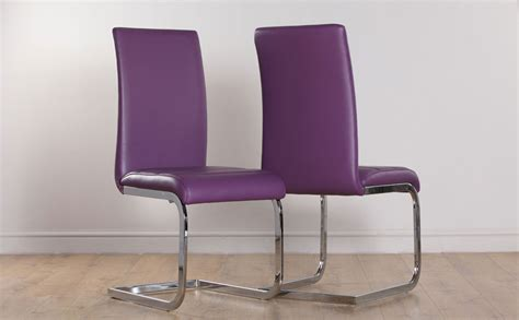 Perth Purple Leather Dining Chair Only £6999 Furniture