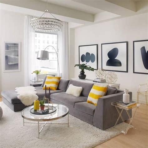 Room Decor Ideas Yellow And Gray by Black White And Yellow Home Decor Living Room