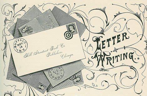 art  letter writing  art  manliness