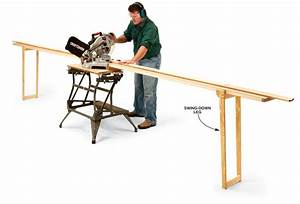 Miter Saw Extension Wings Plans DIY Free Download simple