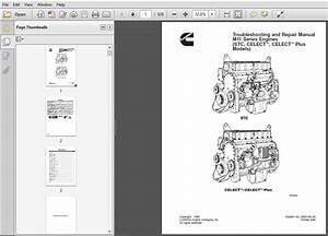 Cummins M11 Series Engines  Stc  Celect U2122  Celect U2122 Plus