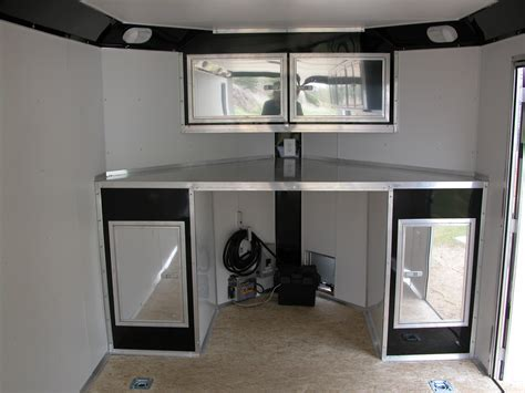 Enclosed Trailer Cabinets by Cabinet Options R And P Carriages Cargo Utility Dump