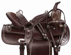"16"" PLEASURE TRAIL ENDURANCE WESTERN HORSE LEATHER SADDLE ..."