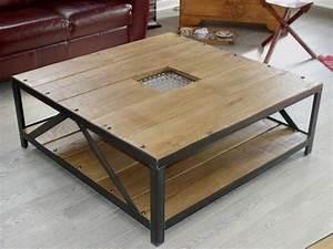Table Bois Et Fer : table salon bois et fer 7 id es de d coration int rieure french decor ~ Teatrodelosmanantiales.com Idées de Décoration