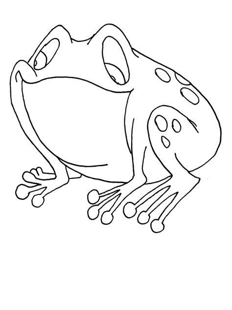 si e free rane disegni per bambini da colorare