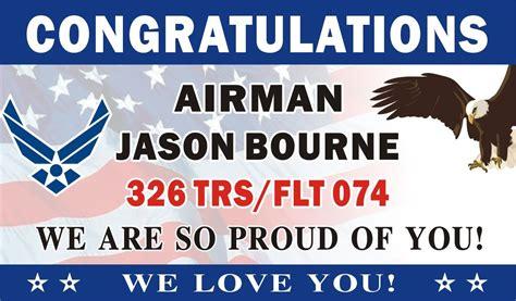 3ftx5ft Personalized Congratulations Airman U.s. (us) Air