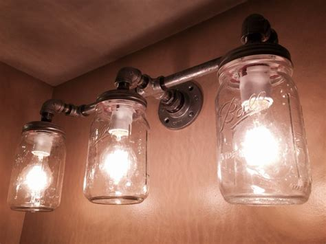 galvanized pipe and canning jar light tamtam board