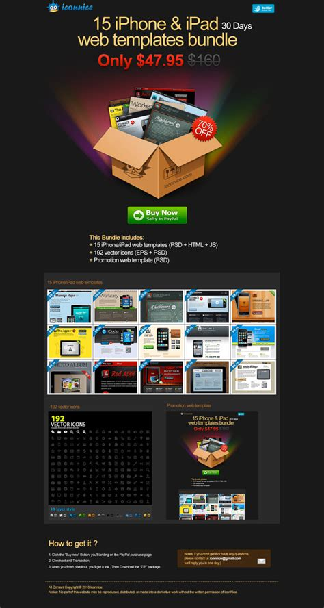 Website Promotion by 15 Iphone App Website Templates Only 24