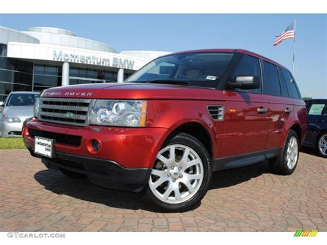 red land rover old 2008 rimini red metallic land rover range rover sport hse
