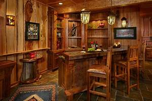 rustic bar ideas home bar rustic with slate floor chair With back bar designs for home