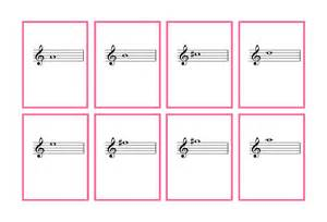 Music Notes Flash Cards Printable